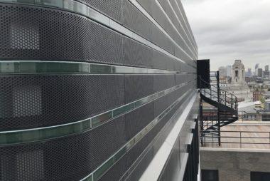 Curved Perforated Aluminium Panels